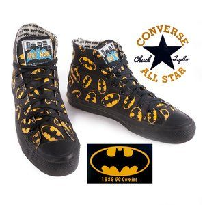Rare Vintage 1989 Converse Bat Man Hi Top Sneakers